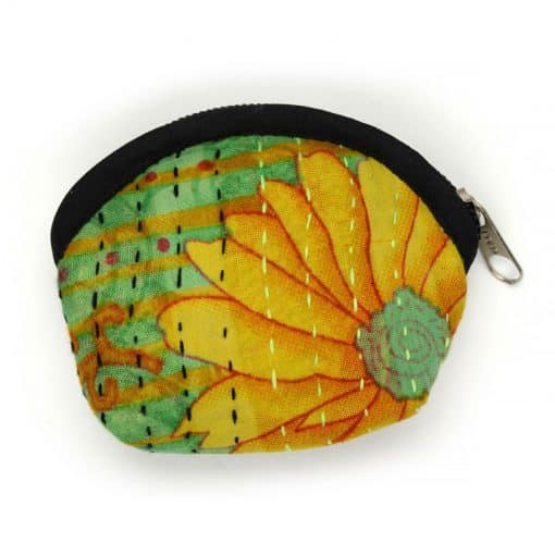 Recycled sari small coin purse.
