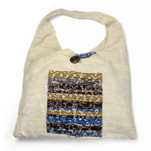 shoulder tote in vegan friendly fabrics