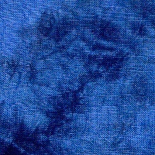 Blue tie dye fabric.