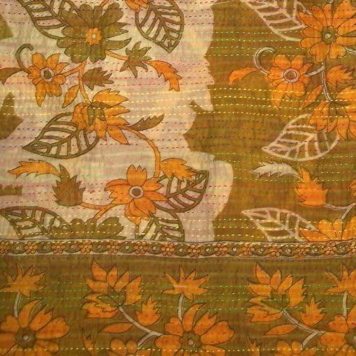 recycled sari kantha swatch
