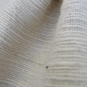 Natural, undyed, handspun, hand woven cotton khadi.