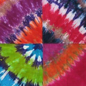 tie dye swatches