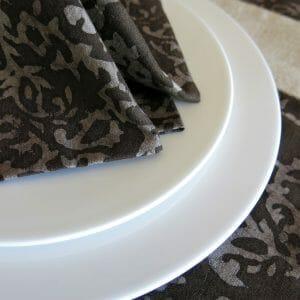 Vegan-friendly natural dye batik print napkin detail.