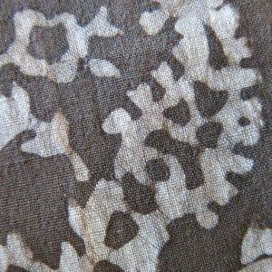 Vegan-friendly plant dye batik print detail.