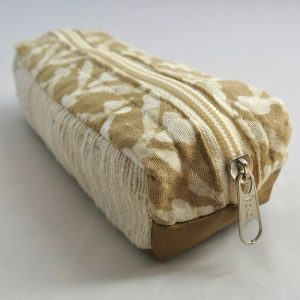 Vegan-friendly electronic cord case in cotton and natural dye batik prints.