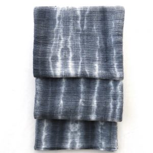 Tie-dye, handspun, handwoven cotton men's scarf.