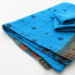 Soft, recycled sari burp cloth with 2 wash cloths. Variety.