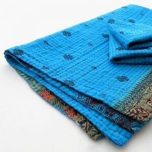 Soft, recycled sari burp cloth with 2 wash cloths. Variety.