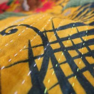 Narrow, close Jessore stitch.