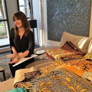 Hand & Cloth display Motif kantha work.
