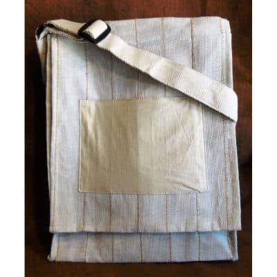 Custom eco-friendly messenger bag.