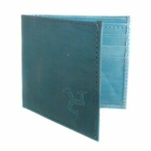 Custom hand embossed leather wallet.