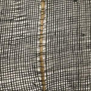 Cotton jute net detail, black.