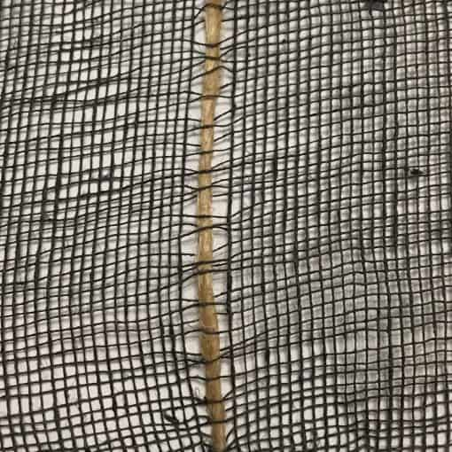 Cotton jute net detail, black.