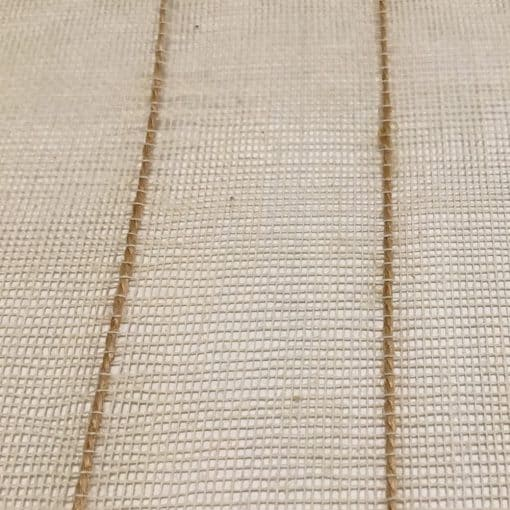 Cotton jute net detail, natural.