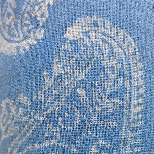 Eco-friendly fabric, handwoven with zero waste cotton, hand batik block printed and natural dyed with indigo.