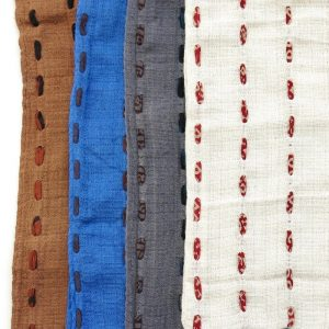 Fair trade yardage fabric, hand stitched with recycled saris. Go zero fabrics.