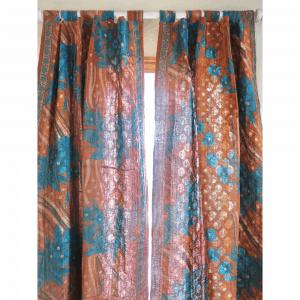 Recycled sari, kantha, tab drape. Go Zero fabrics