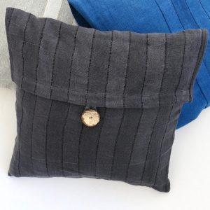 Sustainable fabric cushion covers, 24 inch 60cm square, handwoven with zero waste cotton. Vegan friendly.