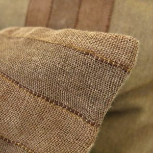 Sustainable fabric cushion covers handwoven with zero waste cotton, hand dyed with local natural dyes. Vegan friendly.