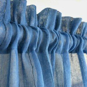 Sustainable net fabric drape, handwoven. Go Zero fabrics.