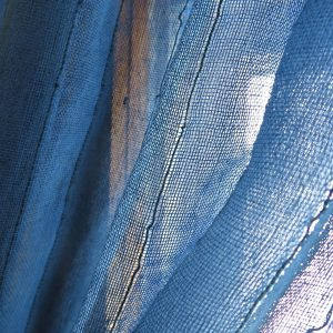 Sustainable sheer fabric drape, handwoven. Go Zero fabrics.