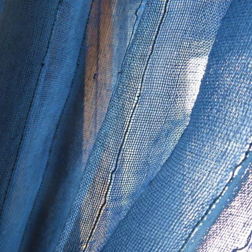 Sustainable sheer fabric drape, handwoven. Go Zero fabrics.