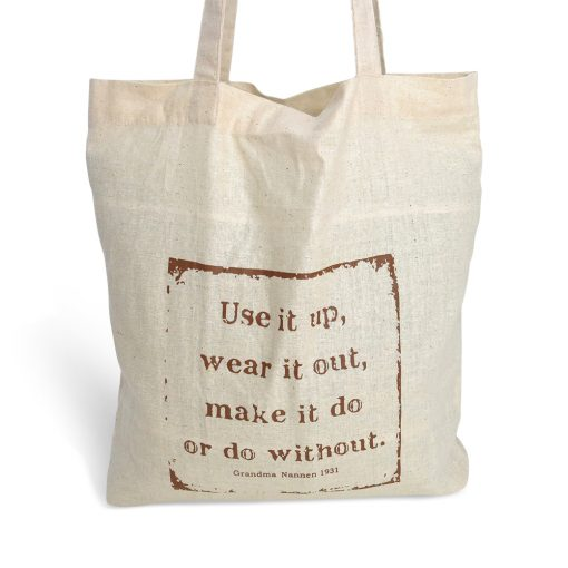 eco-friendly cotton foldaway bag - use it up, wear it out