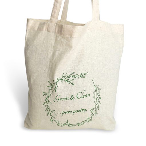 eco-friendly cotton foldaway bag - green and clean