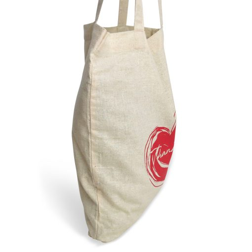 eco-friendly cotton foldaway bag - thankful heart