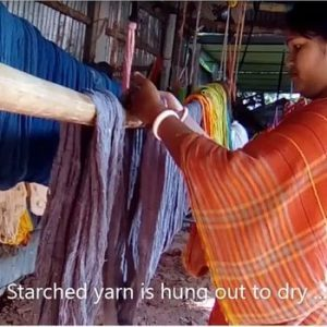 ethical textiles - drying yarn