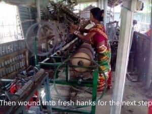Sustainable fabrics - winding yarn