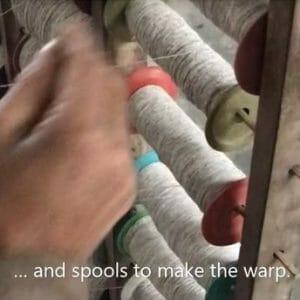 Ethical fabrics - warping spools