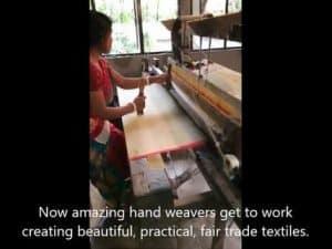Weaving handloom fabric