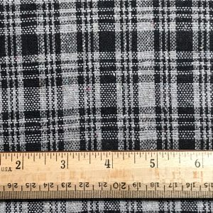 sustainable fabric recycled yarn black grey check
