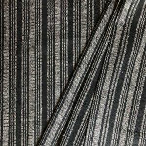 sustainable fabric recycled yarn black grey stripe