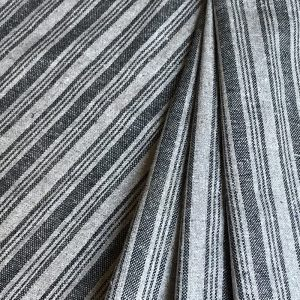 sustainable fabric recycled yarn grey black stripe
