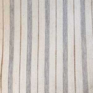 eco friendly recycled cotton jute handwoven sheer stripe fabric