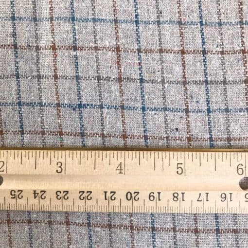 fair trade handwoven natural dye plaid fabric