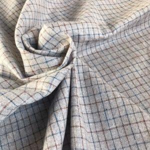 fair trade handwoven natural dye check fabric