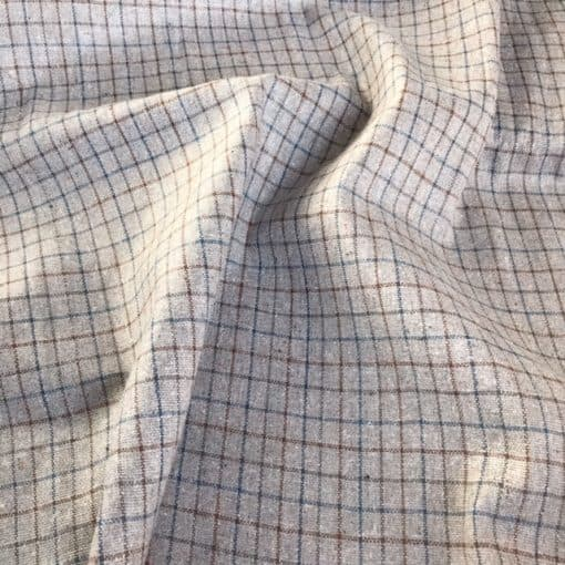 fair trade handwoven natural dye check fabric