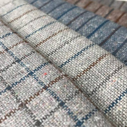 recycled fabric with natural dye check