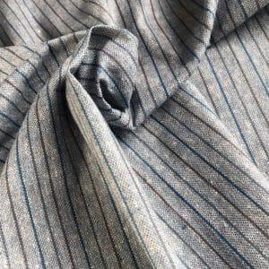 sustainable handwoven stripe fabric natural dye indigo