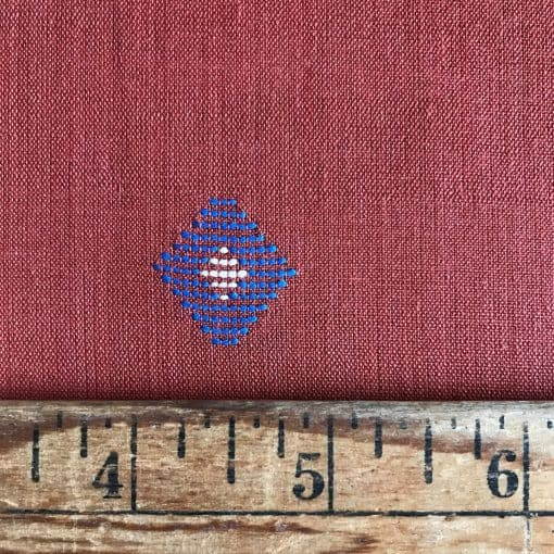 Handwoven cotton motif geo A rust