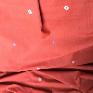 Handwoven cotton motif geo A rust