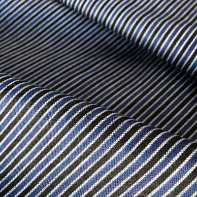 handwoven fine cotton stripe black blue white