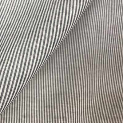handwoven fine cotton stripe white brown