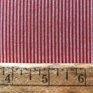 handwoven fine cotton stripe rust natural