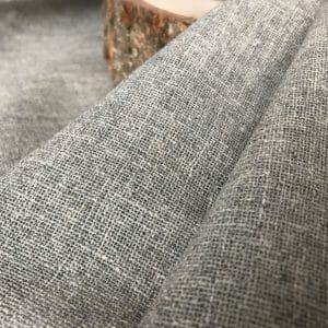 recycled handwoven zero waste fabric grey