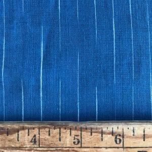 sustainable cotton ikat stripe indigo white